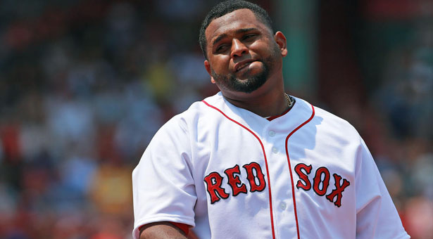 (07/12/2015 Boston, MA) Boston Red Sox Pablo Sandoval reacts after he grounds out to end the first inning against the New York Yankees  at Fenway Park on Sunday, July 12, 2015. Staff Photo by Matt West.