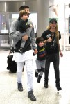 Photo © 2016 Splash News/The Grosby Group Miami, December 19, 2016. Shakira, Gerard Pique along side their two sons are all smiles as they are seen upon arriving at Miami International airport.